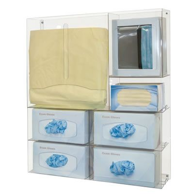 Clear Ppe Organizer With Quad Glove Dispensers In 2020 Quad