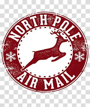 North Pole Air Mail Logo Santa Claus North Pole Christmas Stamp Postage Stamps Naughty Transparent Background Santa Stamp Christmas Stamps North Pole Letter