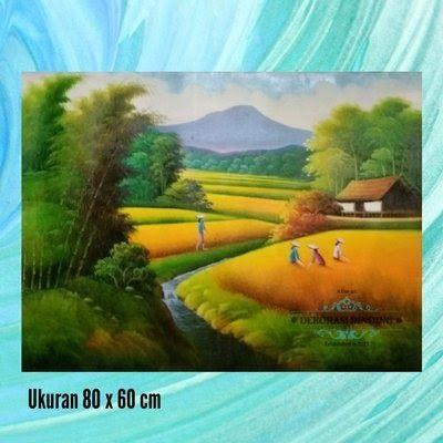 Fantastis 26 Lukisan Pemandangan Alam Persawahan Lukisan Pemandangan Alam Sawah Dan Gunung Saat Panen Raya 021018 Pemandangan Alam L Di 2020 Pemandangan Gambar Alam