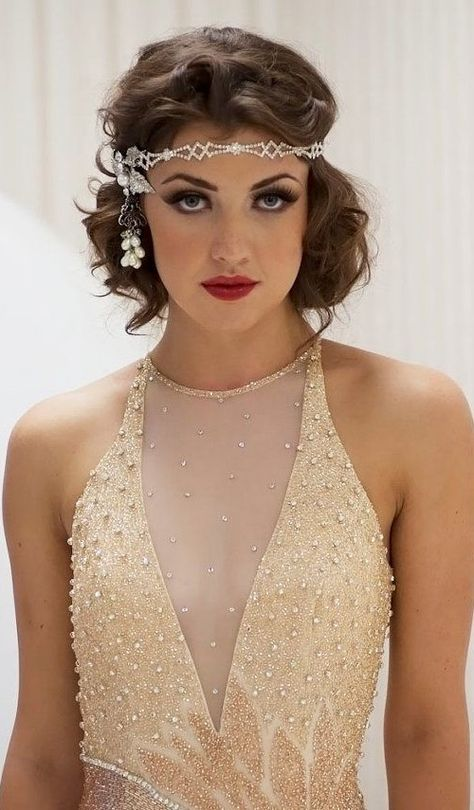 List Of Pinterest Gatsby Hairstyles With Headband Short Pictures