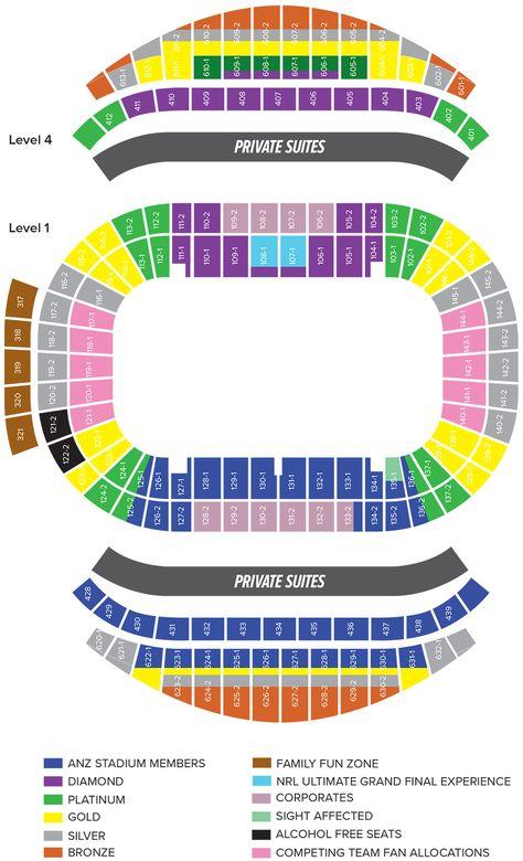 Zone Box Anz Stadium Arthur Ashe Stadium Seat Map In 2020 Seating Plan Stadium Seats How To Plan