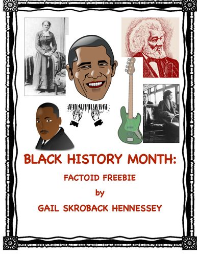 Black History Month Factoids(Interactive Notebook Activity ...