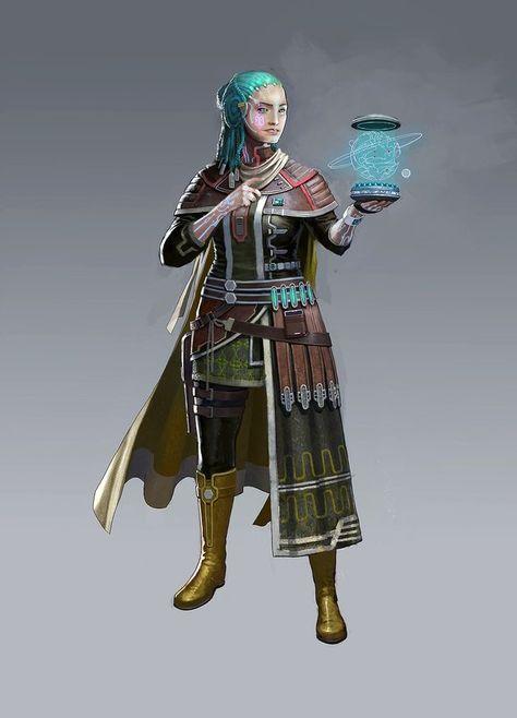 Female Lashunta Medic - Starfinder Pathfinder PFRPG DND D&D