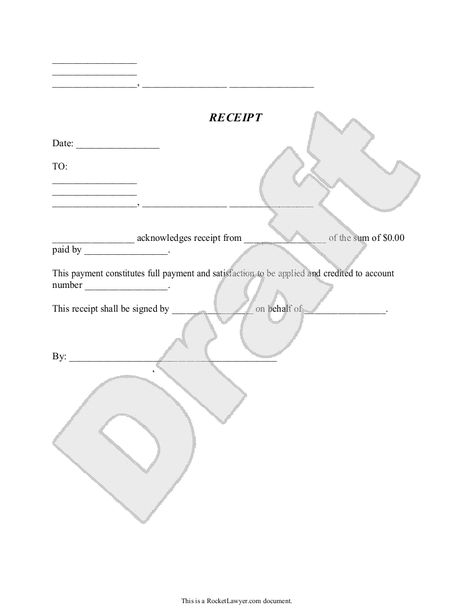 Sample General Receipt Form Template PHOTOGRAPHY INFO - paid in full receipt template