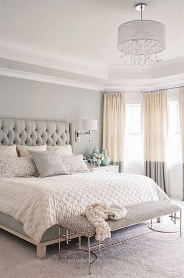Home Decor Ideas: Gray, white, and tan bedroom ...