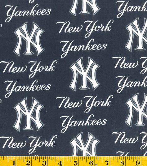 New York Yankees Logo Cotton Fabric 58 Joann New York Yankees Logo New York Yankees Yankees Logo