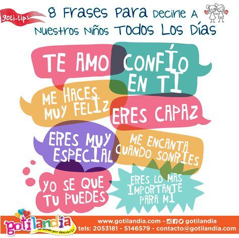 8 Frases para decirle a nuestros niños todos los dias - Intereses ...