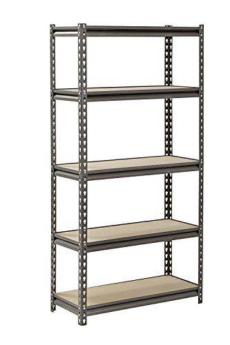 Heavy Duty 5 Tier Steel Muscle Rack Storage Shelving Unit Adjustable Metal Shelf