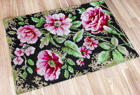 Alfombra decorativa -  Rosas