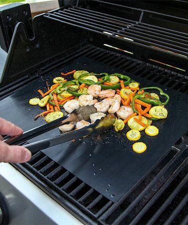 Bbq Grill Mat Set Of Four Zulily Zulilyfinds Cooking Sheet Bbq Grill Mats Cooking
