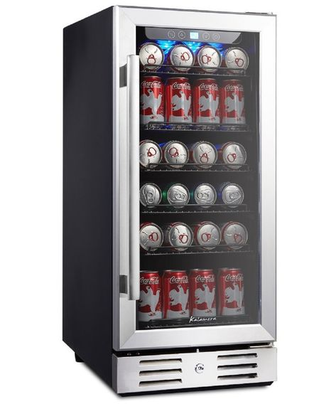 Kalamera 15 Beverage cooler 96 Can Built-In Single Zone Touch Control - Beverage Refrigerator - Ideas of Beverage Refrigerator Beverage Refrigerator, Beer Fridge, Mini Fridge, Built In Wine Cooler, Beer Cooler, Cute Car Accessories, Kitchen Accessories, Beverage Center, Room Ideas Bedroom