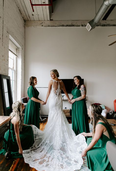 Allow your bridesmaids to mix and match their styles just keep the same color. By ordering from the same store altogether you can be sure that the colors will come out the same & everyone's gown will arrive on time. . . #bridesmaids #bridesmaiddress #bridesmaiddresses #bridesmaidsgown #gettingready #mixandmatchbridesmaids