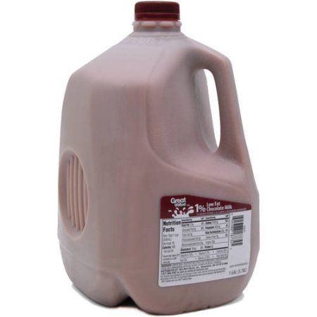 Great Value 1 Lowfat Chocolate Milk 1 Gallon 128 Fl Oz Walmart Com Chocolate Milk Grocery Foods Chocolate