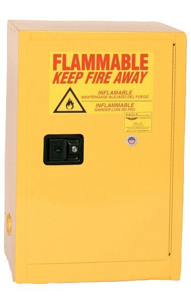 Eagle 1925 Flammable Safety Cabinet 12 Gallon Manual Close Closed Storage Cabinets Gallon Safety