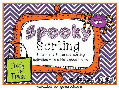 Spooky Sorting Fun and a Freebie