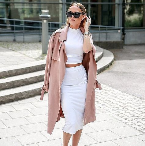 White And Blush Shopping Chic Outfit Idea by By Kiki