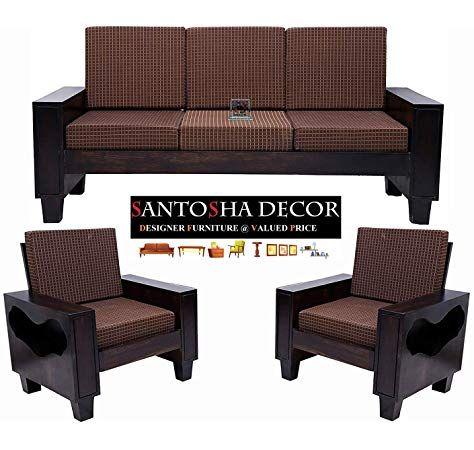 Royal Interiors Wooden Fabric Sofa Set 3 2 1 Wooden Finish Maroon Amazon In Home Kitchen Dizajn Divana Dizajn Divan
