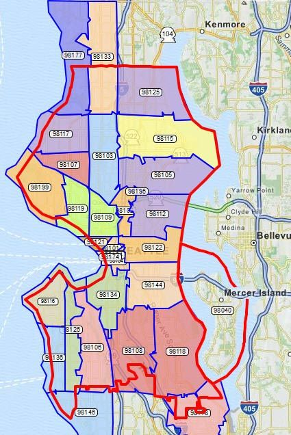 Zip Code Map Seattle seattle zip codes map   Google Search | Zip code map, Map, Coding