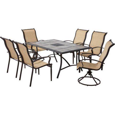 37+ Mainstays 7 piece wood and metal dining set Various Types