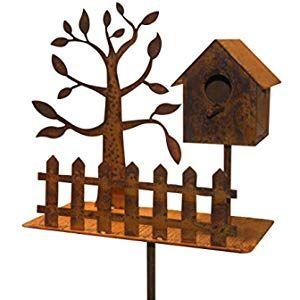 Gartenstecker Vogel 118cm Metall Rost Gartendeko Edelrost Gross Amazon De Garten Gartenstecker Edelrost Garten Deko