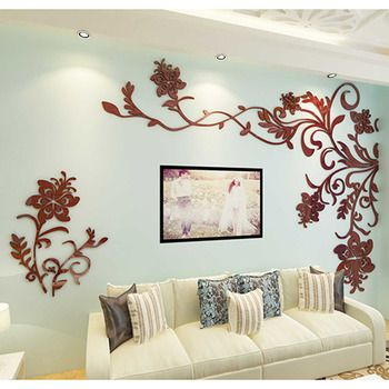 Wall Decals For Living Room Tree Acrylic Home Personalised Mirror In 2020 Wall Stickers Living Room Wall Decor Living Room Living Room Murals