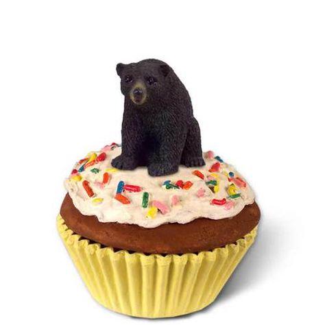 Black Bear Cupcake Trinket Box
