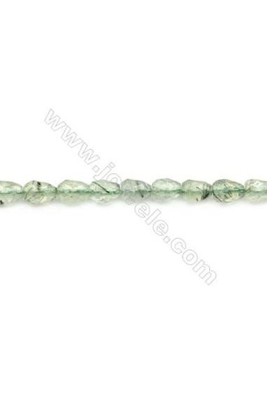 2019 的 Natural Prehnite Beads Strand Faceted Teardrop Size