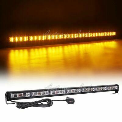 """38/"""" LED Amber White Warn Flash Traffic Adviser Directional Arrow Strobe Lightbar"""