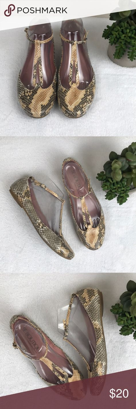 25950602d52819 SE Boutique Sam Edelman Carrina Faux snake Sz 8 SE Boutique Sam Edelman  design group Sz8 Faux 🐍 Snake Skin textured Flats All man made materials  Some ...