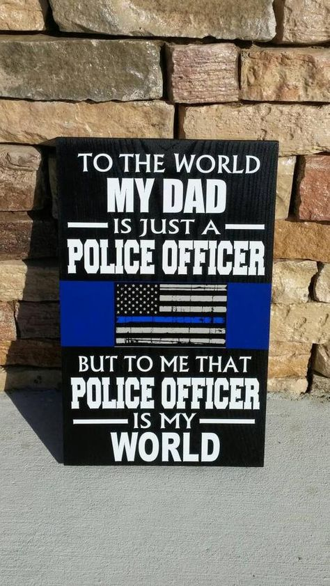 THIN BLUE LINE Personalized Police Wood Wall Plaques. Police | Etsy