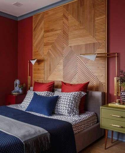 45 Ideas Bedroom Ideas Cozy Red Bedroom In 2019 Rustic