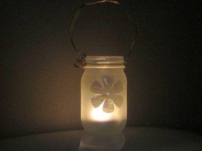 Easy glass jar lanterns