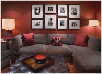 Brown And Red Living Room Decor Best Grey Orange Living Room Mine Pinterest Sustainabl Burgundy Living Room Red Living Room Walls Red Living Room Decor
