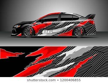 Racing car wrap design vector  Graphic abstract stripe