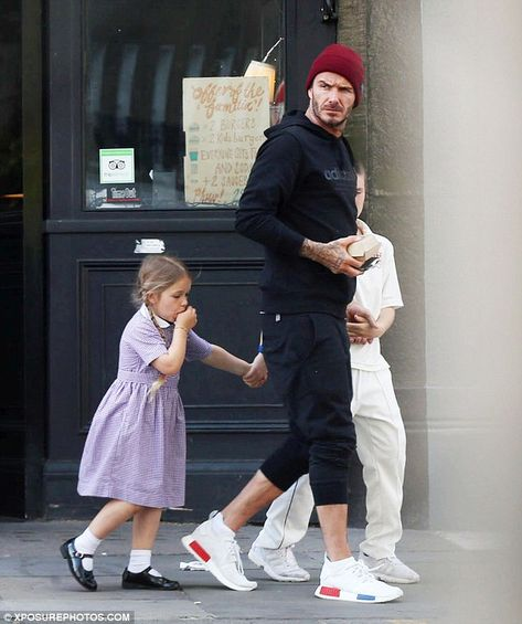 Soccer Star David Beckham Was Spotted Wearingadidas Yeezy