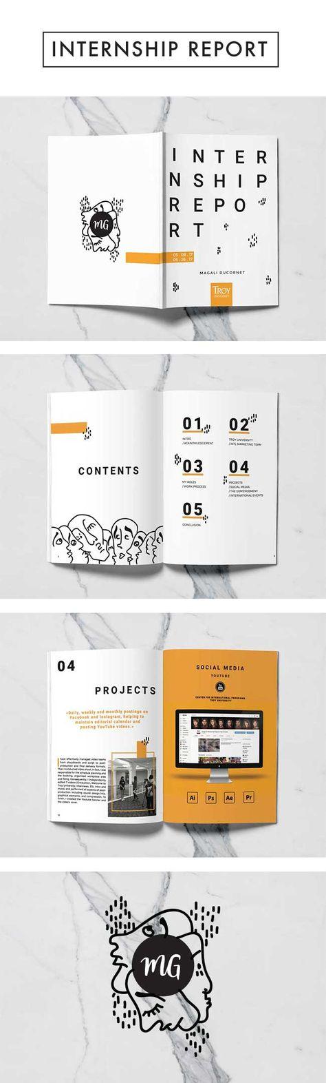Magali Ducornet x MG x Internship Report x Rapport de Stage x Graphic Design x Art x Marketing x Layout x Mise en Page x Cover
