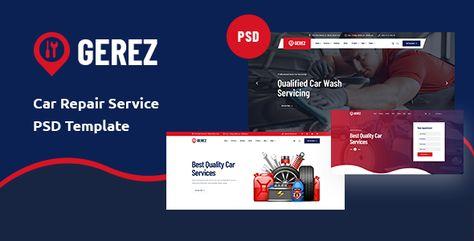 Gerez -Car Servicing PSD Template | Stylelib