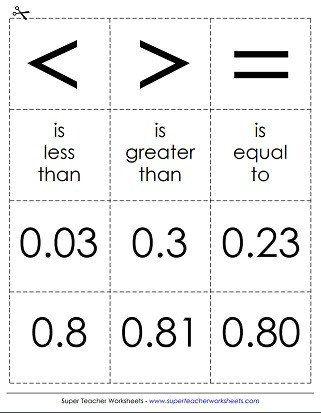 Comparing Fractions Decimals Worksheets Fractions Worksheets Decimals Worksheets Comparing Fractions