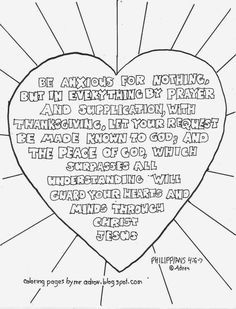 Be Anxious For Nothing Philippians 4 6 7 Free Printable Coloring