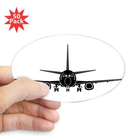 Airplane Sticker Oval 50 Pk Ad Sponsored Designed Pk