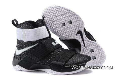 quality design db852 16e88 Nike Zoom LeBron Soldier 10 Black White-Metallic Silver Online в 2019 г.    YouTube Money Wants