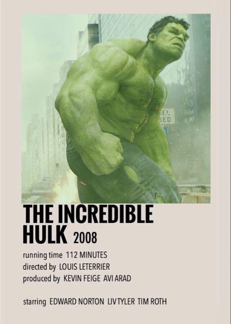 The incredible hulk polaroid poster
