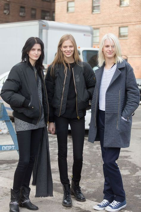 Check out the latest street style worn by some of the models in between shows - NYFW Day 2