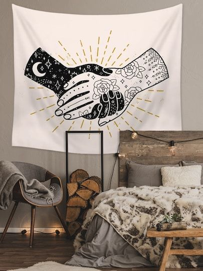 Hand In Hand Print Tapestry Home Decor Wall Art In 2019