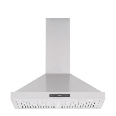 Vissani 30 In W Convertible Wall Mount Range Hood With 2 Charcoal Filters In Stainless Steel Qr814 The Home Depot Wall Mount Range Hood Range Hood Charcoal Filter