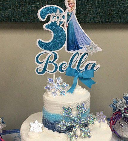 Buy Frozen Happy Birthday Cake Topper Elsa Princess Baby Shower Cake Decor Girl And Kids Snow Frozen Inspirede Birthday Party Decorations Online In Indonesia B087qbbnm9