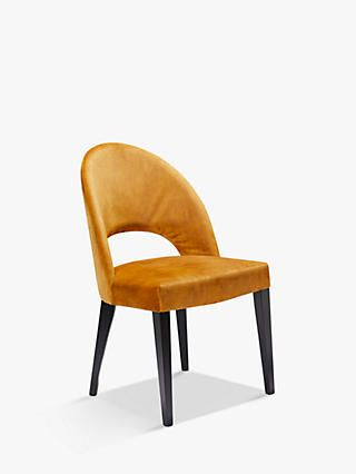 John Lewis Partners Moritz Velvet Dining Chair Fsc Certified Beech Amber In 2020 Velvet Dining Chairs Dining Chairs Chair