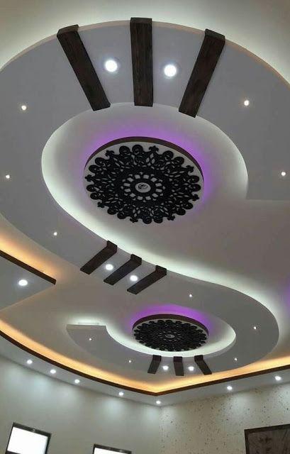 Latest Gypsum Board False Ceiling Design For Living Room Pop