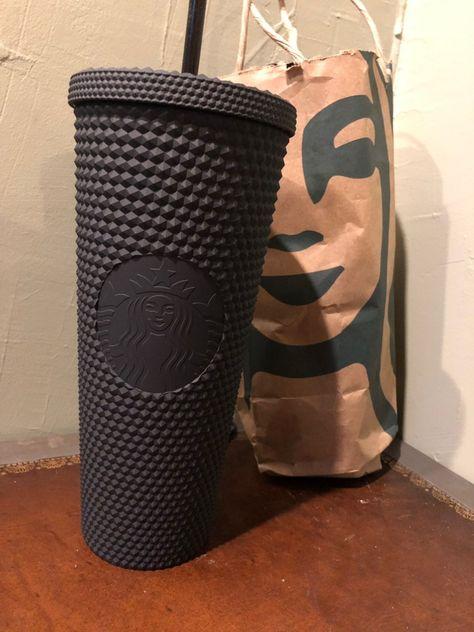 New Starbucks 2019 Matte Black Studded Halloween Limited Edition