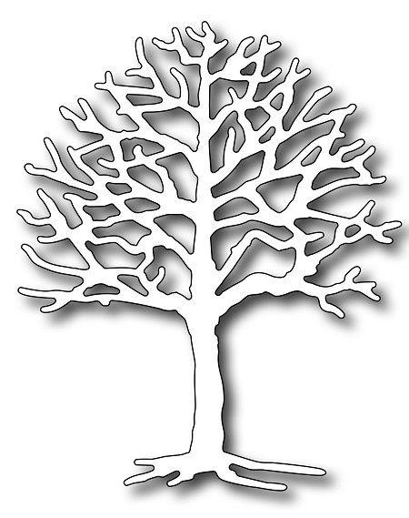 Bare Tree metal die Impression Obsession cutting dies DIE006-V Halloween,fall